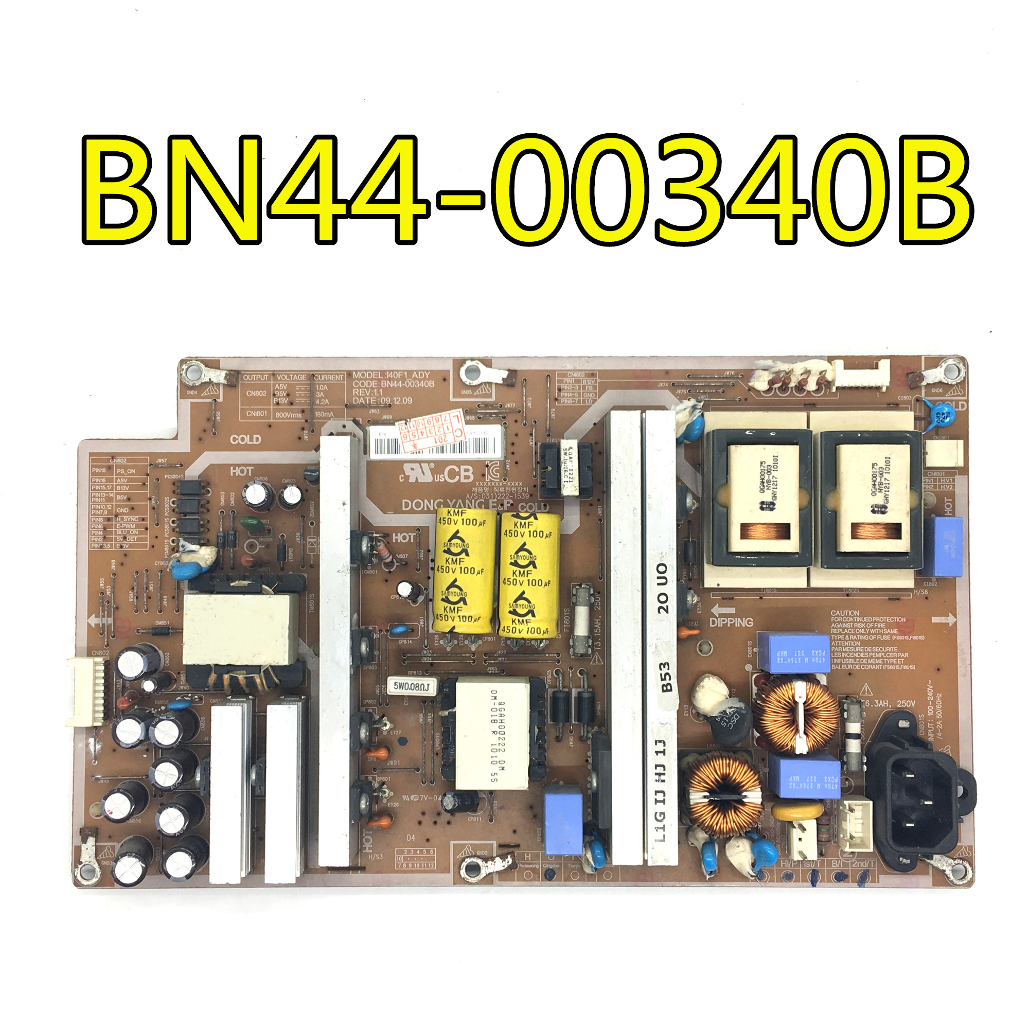 original 100% test for LA40C530F1R LA40C550J power board BN44-00340A I40F1-ASM BN44-00340B