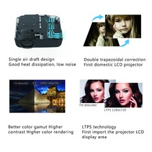 Portable Mini LED Projector with Dual Speakers for Home Cinema