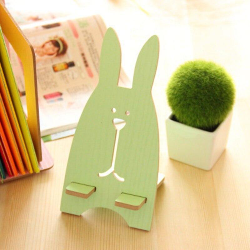 Милый мультфильм кролик деревянный универсальный держатель телефона Стенд сотовый телефон держатель для Iphone для Samsung смартфон настольная …