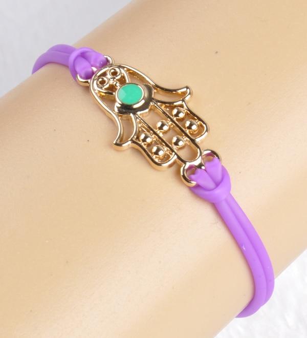 gold plated pu plastic fatima charm bracelets bangles