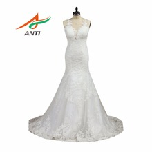 ANTI 2017 New Designer Mermaid Wedding Dress Scoop Robe De Mariee Vestido De Noiva Wedding Gowns Bridal Dresses