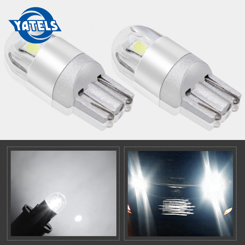 2pcs T10 <font><b>LED</b></font> <font><b>Bulbs</b></font> White 168 501 <font><b>W5W</b></font> <font><b>LED</b></font> Lamp T10 Wedge 3030 2SMD Interior Lights <font><b>12V</b></font> - 24V 6000K Red Amber yellow Ice Blue image