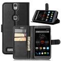 Venta caliente Elephone P8000 Case Style Monedero PU Funda de piel para Elephone P 8000 con la Función de Stand y Titular de la Tarjeta