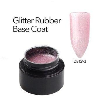 Glitter Rubber Base Coat ,2020 New Product Camouflage Color Rubber Base Gel Nail Polish Soak Off UV Primer