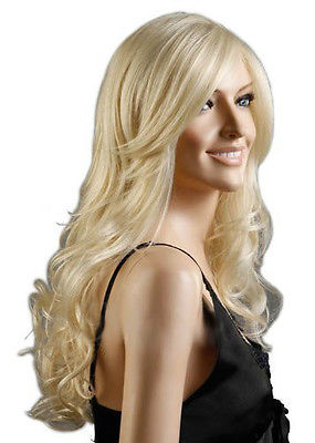 Sexy Lady Light rubia de pelo largo Prom del pelo pelucas de carnaval para mujeres  peluca 4f80e92ac5f2