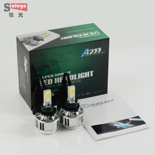 HB4 66w COB chip car LED headlight 9006 6000LM headlamp LED headlight FOR hb4 Car LED