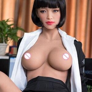 Image 5 - 165cm 일본 실리콘 섹스 인형 애니메이션 큰 가슴 섹스 인형, 현실적인 전신 성인 사랑 인형 금속 해골, 진짜 질 구강
