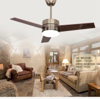 European bronze Fan light ceiling fan lights LED Minimalism modern fashion ceiling lights fan with remote control 48inch