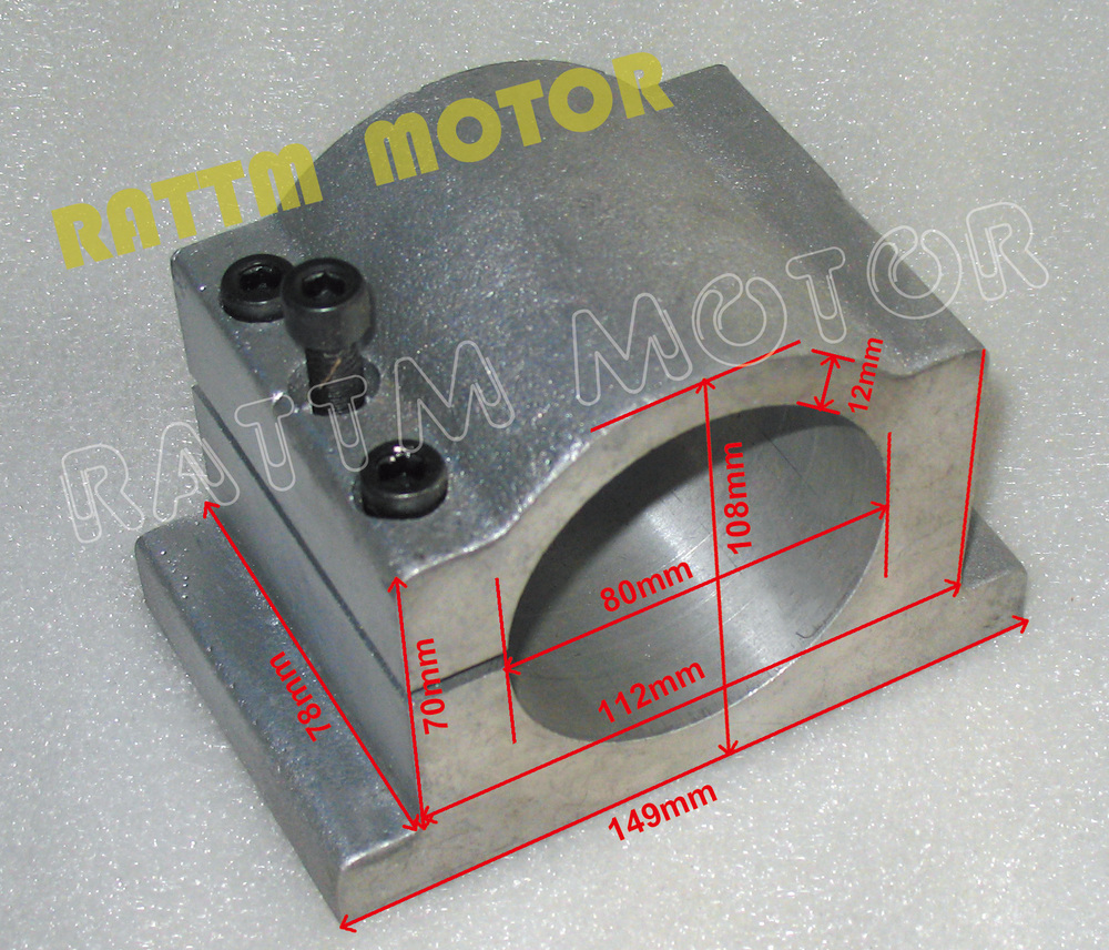 80MM DIAMETER CAST ALUMINIUM BRACKET FOR CNC Router ENGRAVING MILLING MACHINE 1.5KW 2.2KW SPINDLE Motor цены