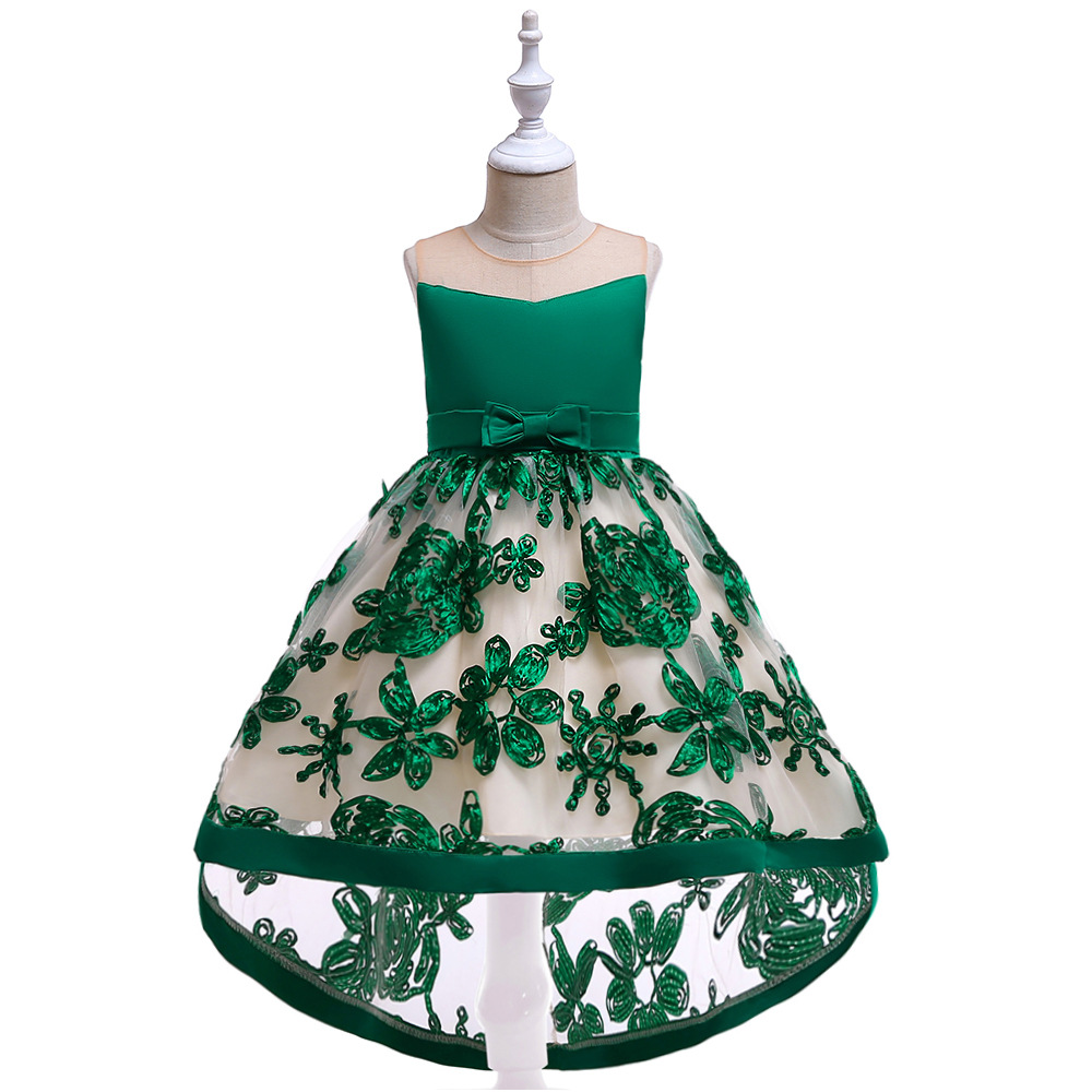 Green   Flower     Girls     Dresses   for Wedding Kids Pageant   Dress   First Holy Communion   Dresses   for Little Baby Party Prom   Dress