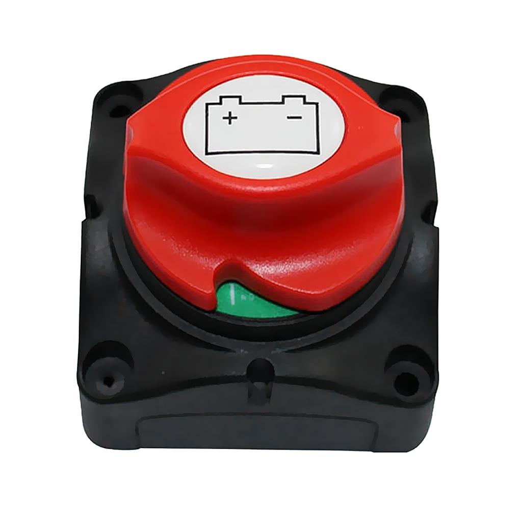 Commutateur principal d'isolateur de déconnexion de 3 positions 48-60 V commutateur de coupure de puissance de batterie adapté pour la voiture/véhicule/RV/bateau/ATV marin