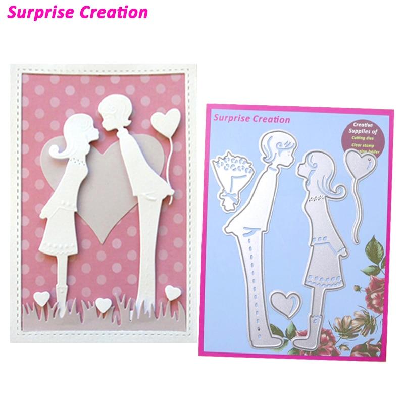 Surprise Creation Cutting Dies Boy Girl Scrapbook Craft Dies