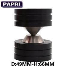 PAPRI 4PCS/Lot 49MM*66MM 304 Stainless Steel Graphite Spikes Feet Pad For CD player speaker,Tube amplifier,instrument,equipment