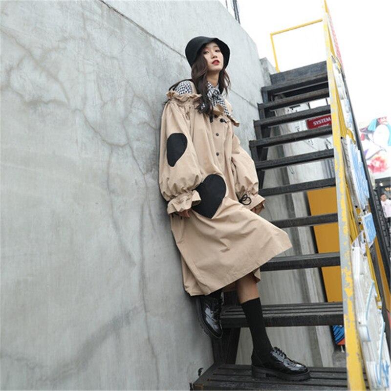 Imprimer Manteau Amour Khaki Survêtement Tranchée Nouvelle Automne Poitrine Hzirip Lâche Long Kaki 2018 Sling Pour Femmes Unique 8wm0OvNyn