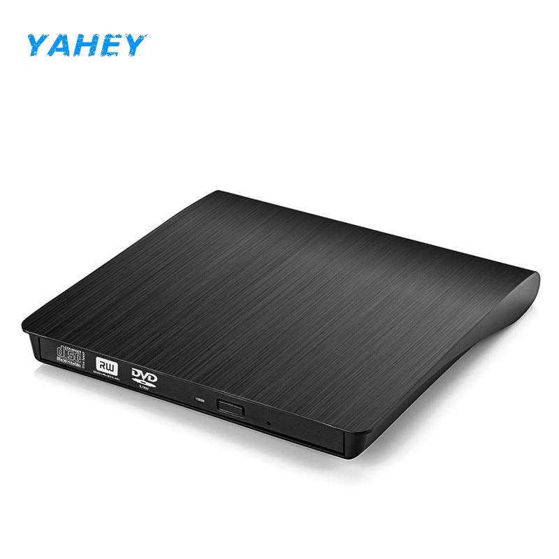 USB 2.0 external CD/DVD ROM Unidad óptica DVD RW escritor lector grabador portatil para Ordenadores portátiles PC ventanas 7/8/10