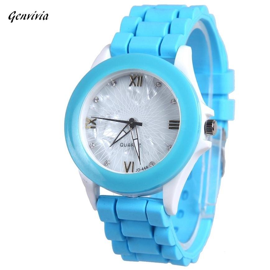 GENVIVIA 2018 10 Colors ladies hot sale watch women with Silica gel watches quartz watch women relojes de mujer casuales