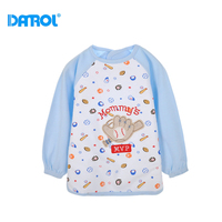 Unisex Big Cotton Waterproof Baby Bibs Burp Cloths Velcro Design For Dinner Children Clothes DR0106