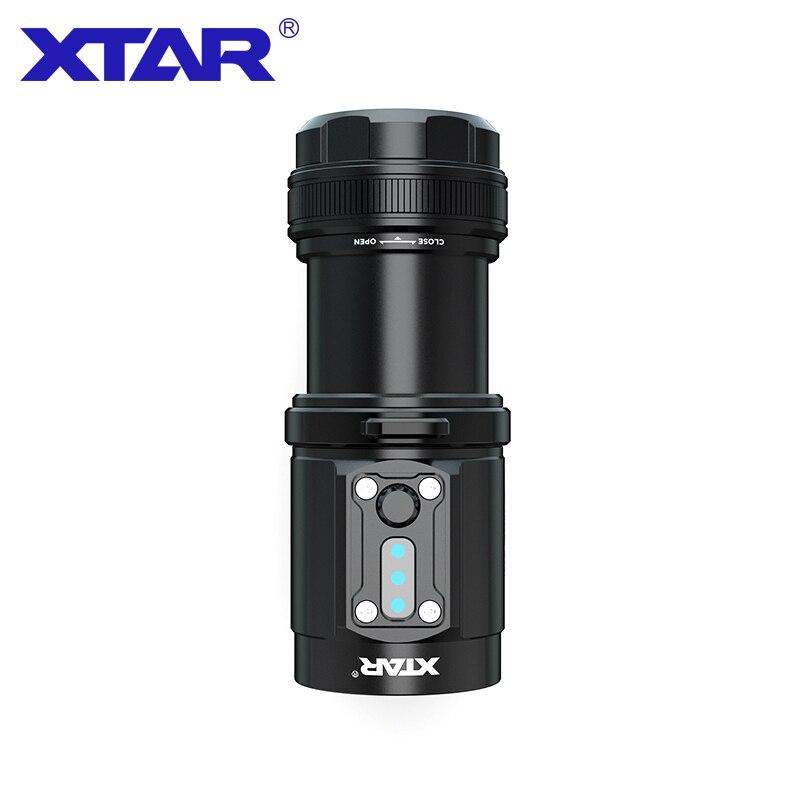 XTAR D08 lampe de poche de plongée morse max 2000 lumen lampe de poche de plongée à main sans eau CRI de 95 avec lumière de photographie à lumière rouge
