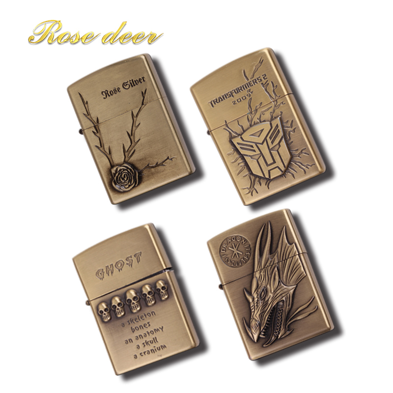 variety of styles Metal attached present hell detective kerosene lighter Windproof Smoking konstantine Vintage Style oil Lighter