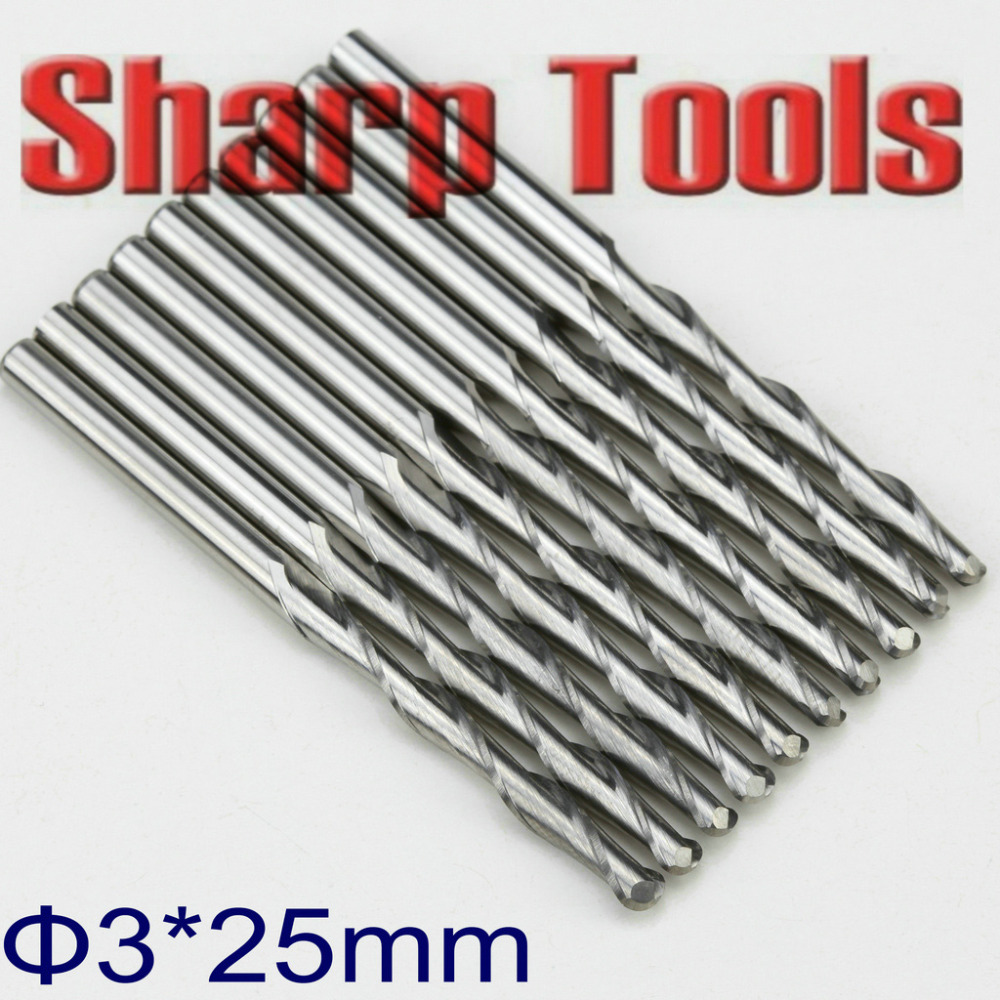 3.0*25mm 2 Flutes Ball End Milling Tools Spiral Router Bit CNC 3D Ball Nose End Mill Carbide Engraving Tools CNC Cutter Freeship