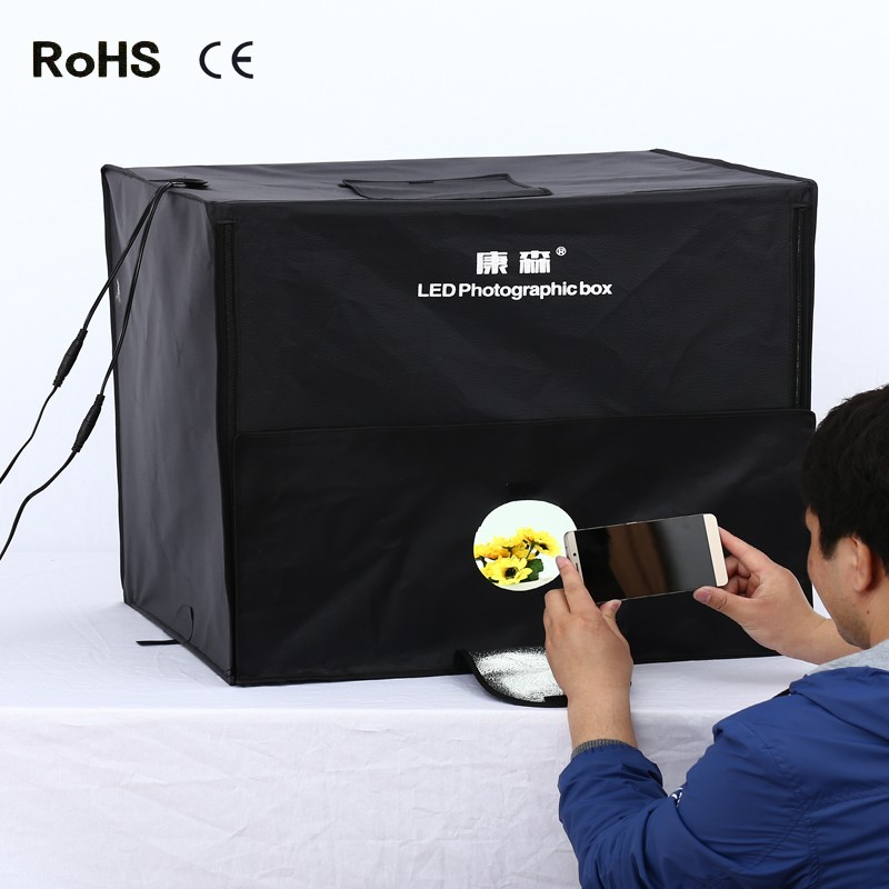 60cm*60cm LED Photo Studio Video Lighting Tent with LED Light Professional Portable LED Softbox Box xixu 2 60cm