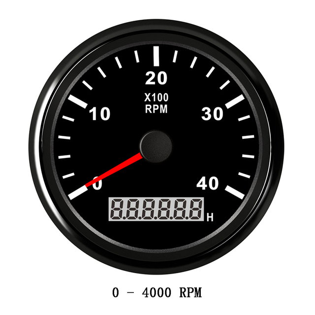 US $35 35 52% OFF|0 4000 RPM Boat Tachometer Marine Tacho Gauge Meter  Tuning 85mm LCD Rev Counter Revolution Meter with Hour Meters for Auto  Truck-in