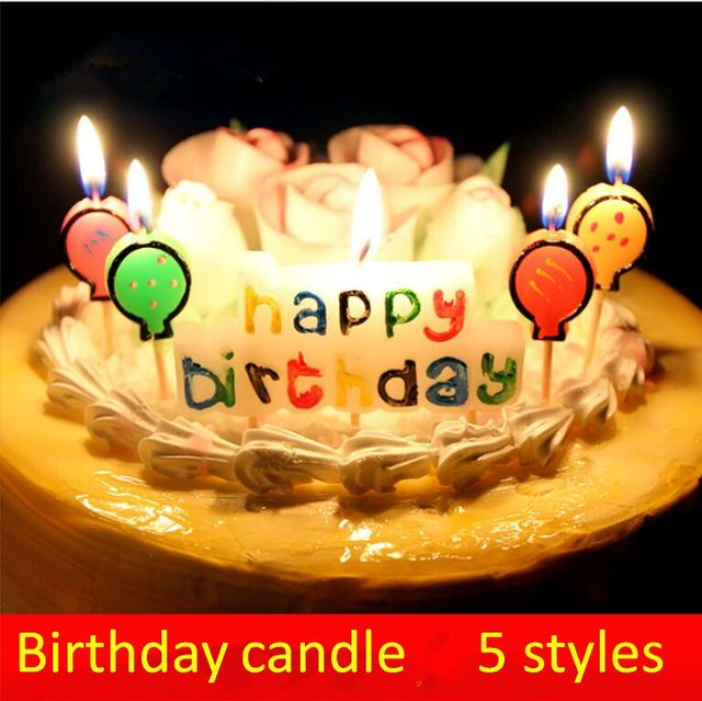 Happy Birthday Candle Birthday Cake Candle Wax Candle Decoration
