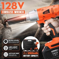 128V 520Nm Brushless Cordless Electric Wrench Impact Socket W/Rechargeable Battery Hand Drill Installation Power Tools