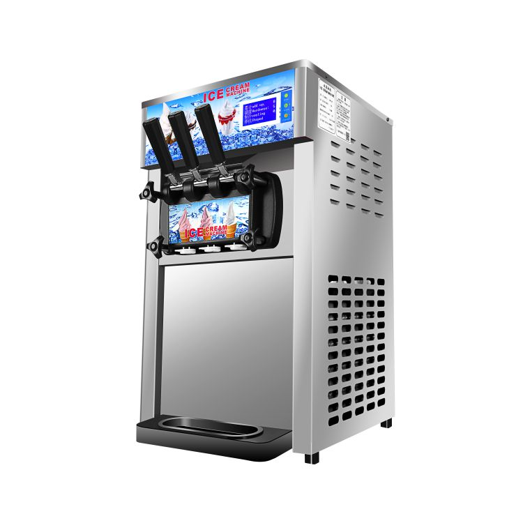 Hot sale 110v / 220v commercial frozen yogurt machine, ice cream refrigerator soft ice cream machine with 3 flavor edtid new high quality small commercial ice machine household ice machine tea milk shop