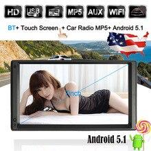 7 универсальный 2 DIN HD Сенсорный экран стерео Радио плеер GPS навигации Мультимедиа Развлечения с BT WI-FI am/fm Android 5.1