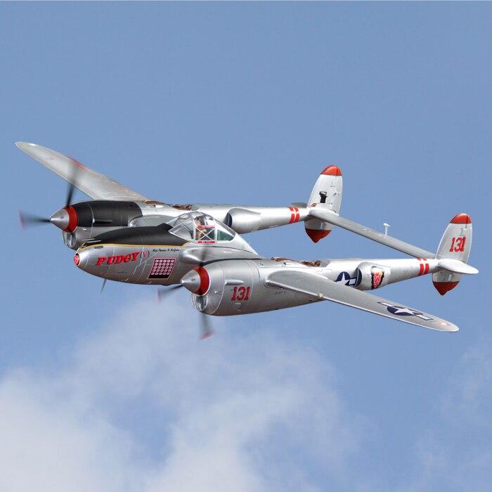 Modelo DO Avião do RC PNP Freewing Flightline 1600 milímetros envergadura P38 P-38
