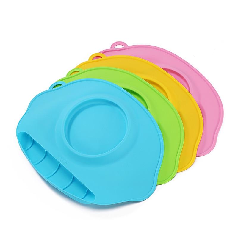 Silikonplatta bricka skålmattor barn barn bordsduk uppsättning barn - Äta och dricka - Foto 6