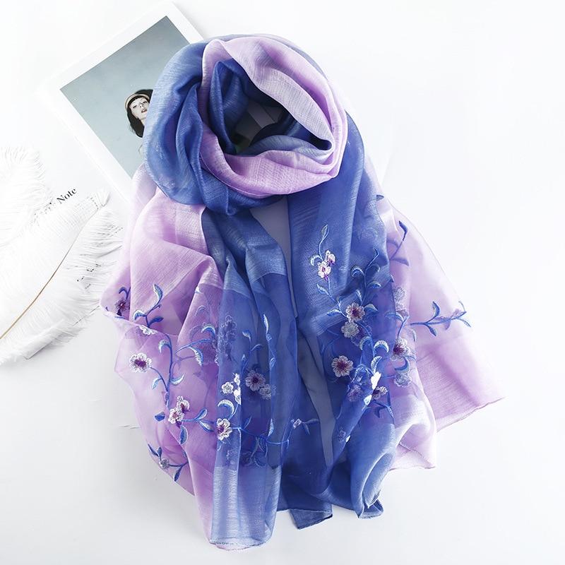 2019 Luxury Brand Women Scarf New Silk Wool Scarf Lady