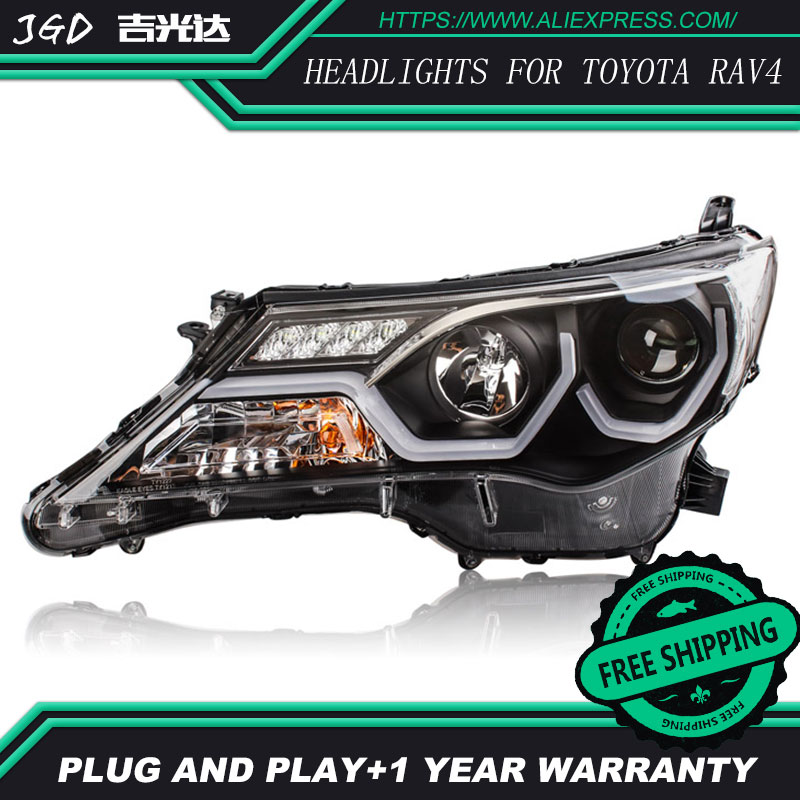 Car Styling Head Lamp case for Toyota RAV4 Headlights 2013-2015 LED Headlight DRL H7 D2H Hid Option Angel Eye Bi Xenon car styling head lamp case for toyota camry headlights led headlight drl h7 d2h hid option angel eye bi xenon