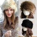 Nova Moda Inverno Russo Cossaco Estilo da Pele Do Falso Chapéu de Esqui Cabeça Earwarmer