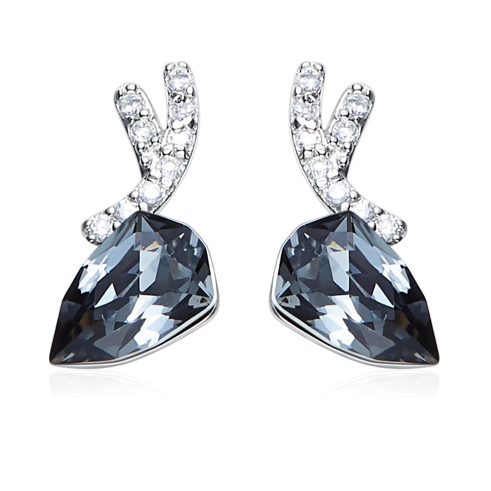 Heezen luxe noir cerf en forme de boucles d'oreilles Bijoux à la mode dames boucles d'oreilles nouveau Brincos Bijoux saint valentin cadeau pour les femmes