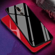 Luxuxy Tempered Glass phone Case for Nokia 7 Plus Protective Hard Back Cover For 6.0 inch Capa Coque Soft TPU