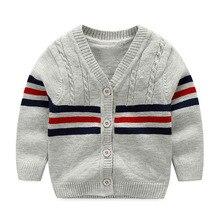 Хлопковый свитер; Модная одежда для малышей; свитер на пуговицах для мальчиков; коллекция 2019 года; кардиган для маленьких мальчиков; свитер; одежда для маленьких мальчиков; высокое качество