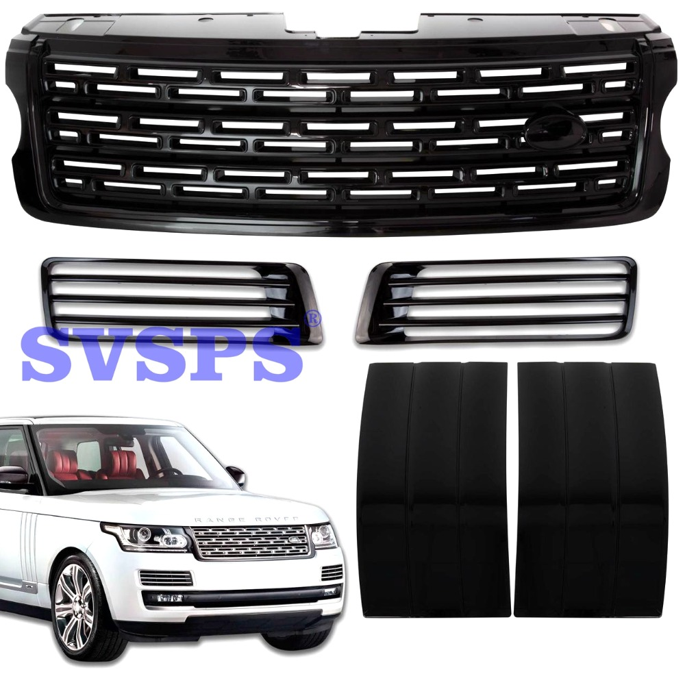 tuning parts For Land Rover Range Rover Vogue L405 vehicle 2013-2017 year Autobiography Design Central Grille Air Ducts Black 2 licence number plate led light no error 2012 rover range rover l405 rover range rover l405 sport l494 ca292