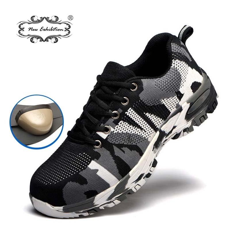 451e7257b New exhibition men protective safety shoes anti-piercing Men Plus Size  Outdoor Steel Toe Cap