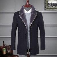 2017 Autumn Winter Mens Suit Mens Blazer Jacket 50 Wool Blend Blazer Casual Outwear Slim Party