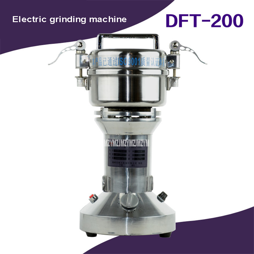 200g Automatic Grinding Machine Electric Dry Food Herb Herbal Medicine Grinder Machine 400W Portable Table Home Use DFT-200 арахис private home manual 200g 188g1