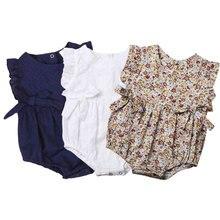 Summer Flower Baby Girls Ruffles Romper Infant Newborn Baby