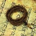 Madeira Wengé Natural suanpan bead 108 bead colar do rosário japa mala Tibetano Budista pulseira oração buda meditação ferramenta