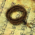 Natural  Wenge wood suanpan bead 108 bead Buddhist prayer bracelet japa rosary mala necklace Tibetan buddha meditation tool