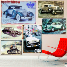 Luxury Car Plaque Vintage Metal Tin Signs Bar Pub Decorative Plates Noble Wall Stickers Iron Poster Home Decor MN32