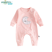Newborn Baby 0 24 Months Rompers Warm Jumpsuit Costume Girls Infant Toddler Boys Long Sleeve Star