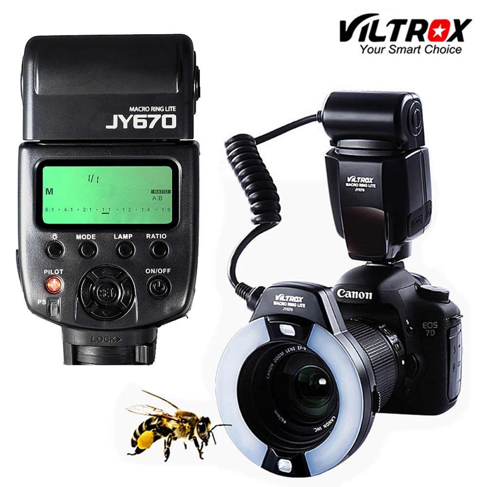 Viltrox Ring Flash JY 670 DSLR Camera Photo LED Macro Ring Lite Flash Speedlite Light for Canon Nikon Pentax Olympus DSLR Camera