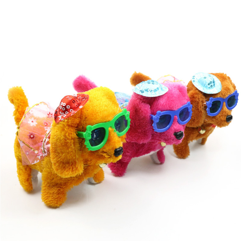 Dog Toy Children Wearing A Skirt Glasses Electric Dog Cute Puppy Make Your Dog Wearing With Hat Back Dog Toy Kids image
