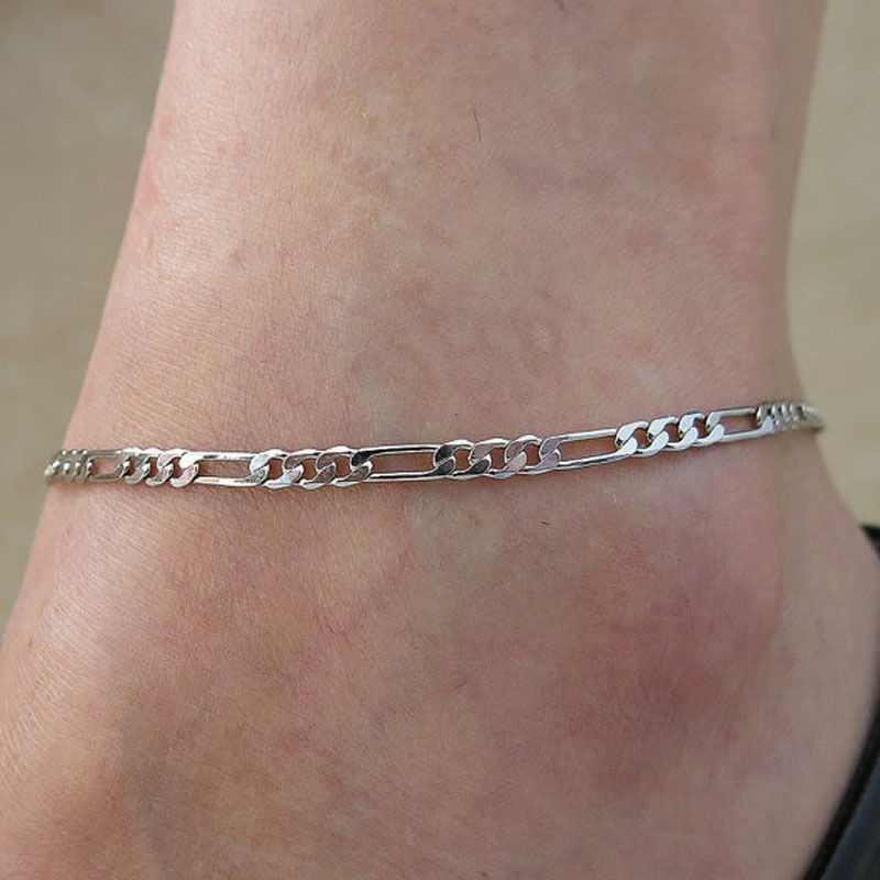1 PCS Unisex ผู้หญิงผู้ชายแฟชั่น Figaro Link Chain ข้อเท้าสร้อยข้อเท้าสร้อยข้อมือเครื่องประดับขายร้อน enkelbandje